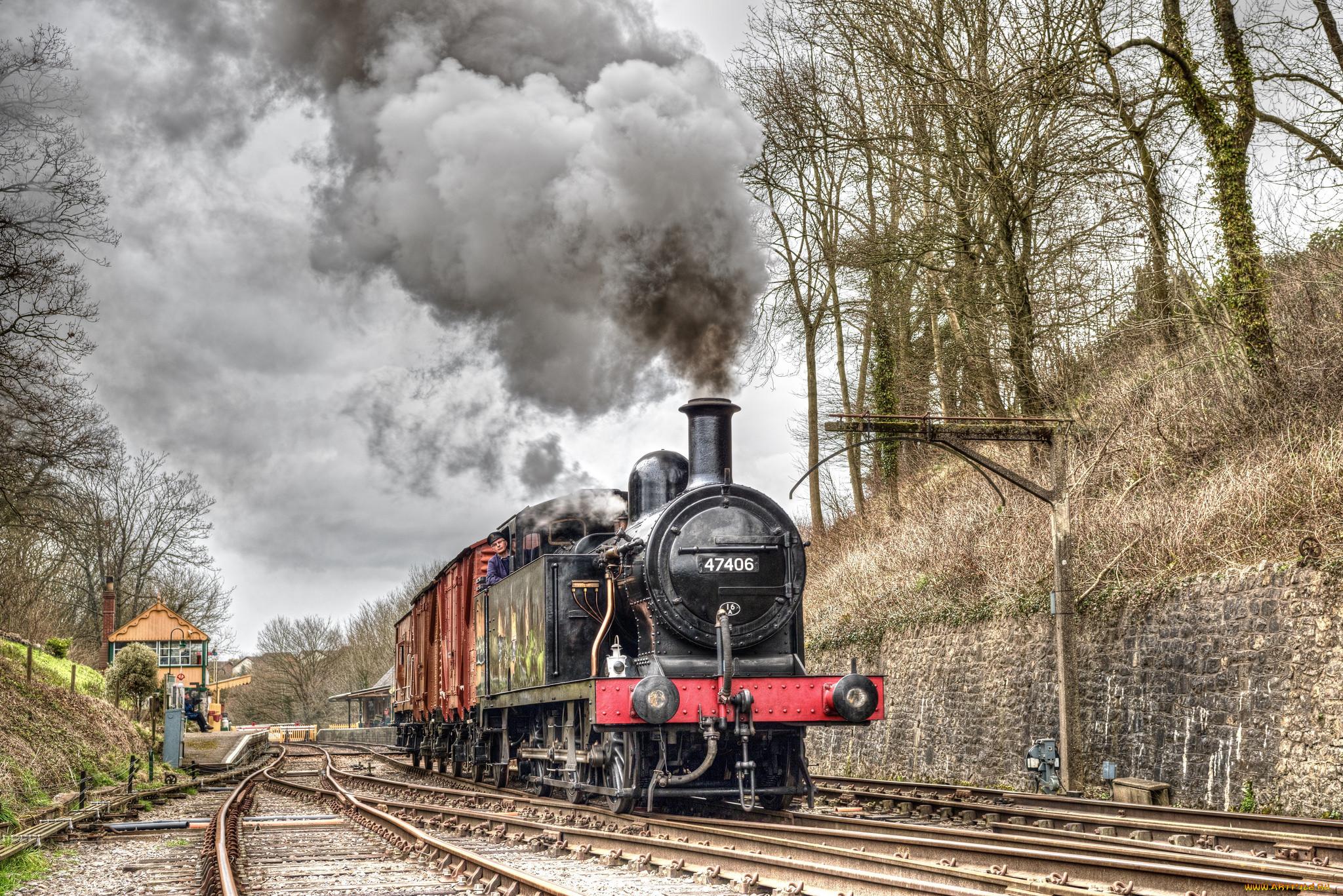 техника, паровозы, состав, локомотив